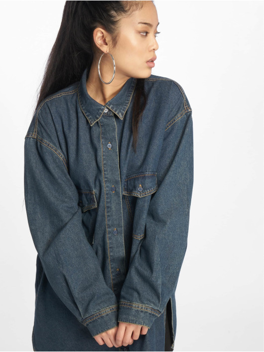 Missguided Shirt Vintage Super Oversized Boyfriend blue