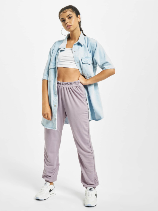 Missguided Shirt Short Sleeve blue