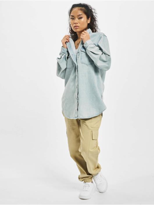 Missguided Shirt Boyfriend Fit blue