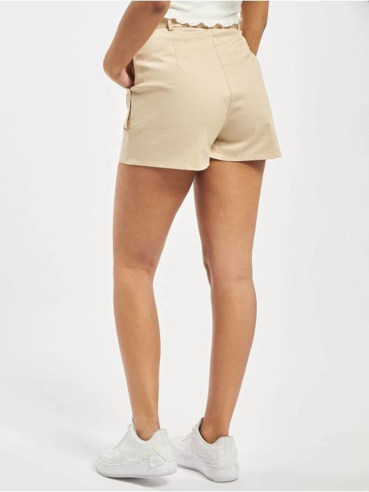 Missguided Short Utility Pocket Detail Tie Waist beige