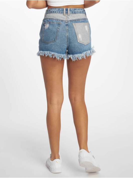 Missguided Short Sinner Contrast blue