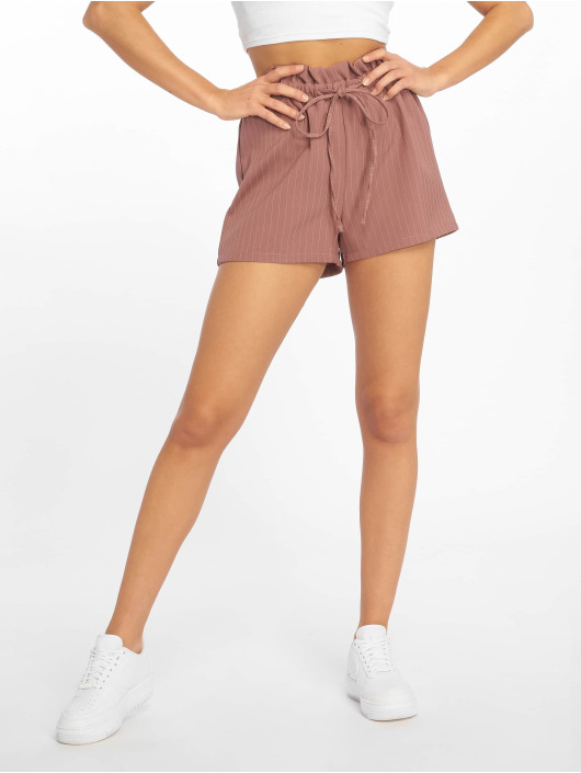 Missguided Short Pinstripe Gathered Waist rose