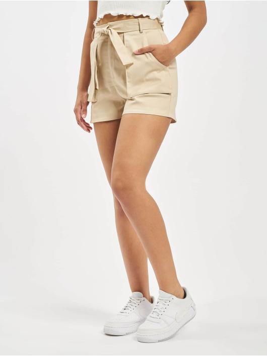 Missguided Shorts Utility Pocket Detail Tie Waist beige