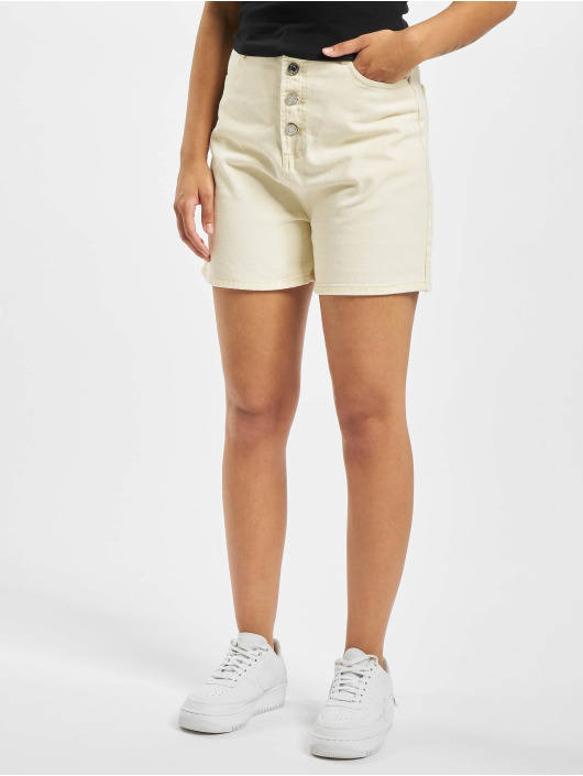 Missguided Shorts Button Up bianco