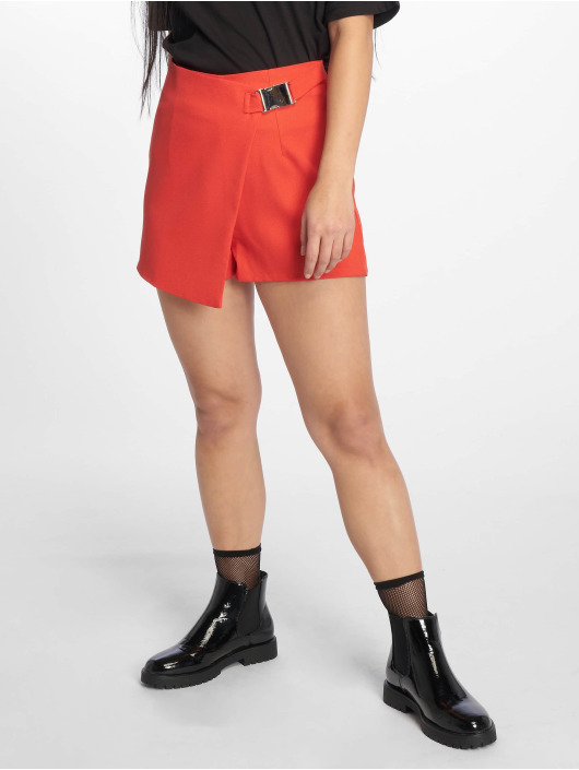 Missguided Shorts Seatbelt Buckle red
