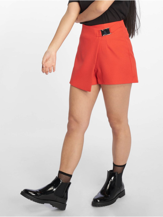 Missguided Shorts Seatbelt Buckle rosso