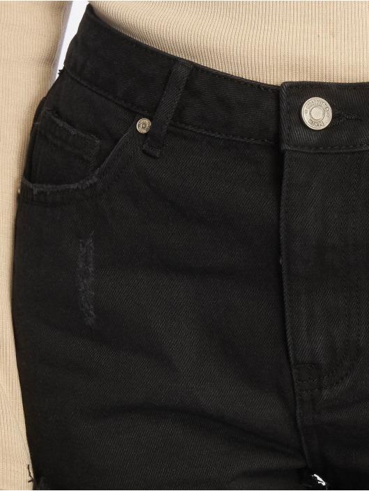 Missguided Shorts Highwaisted Extreme Fray Hem schwarz