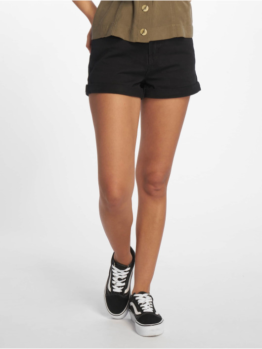 Missguided shorts Highwaisted Turn Up Hem zwart
