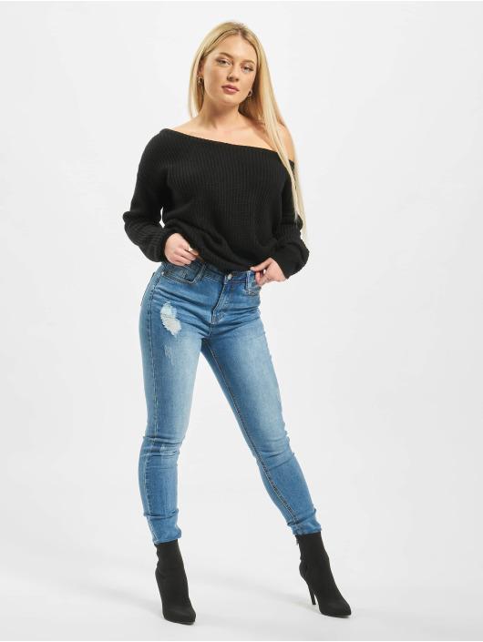 Missguided Skinny Jeans Sinner Clean Distressed blå