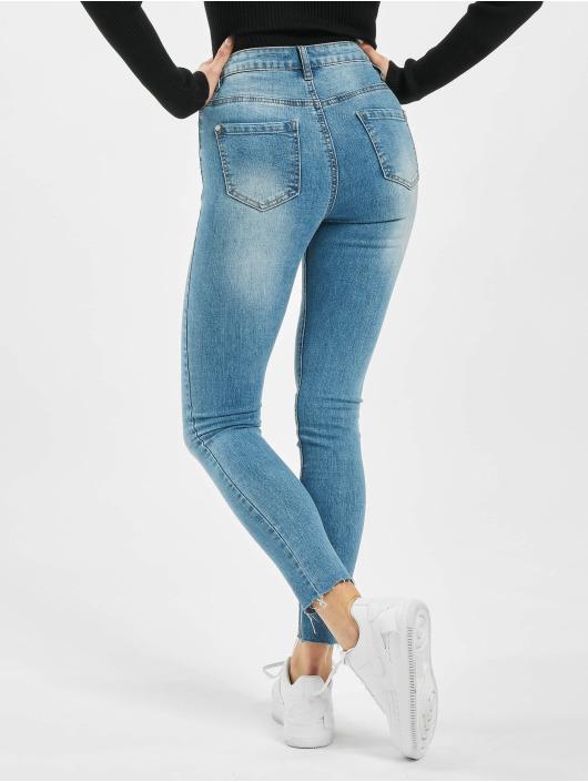 Missguided Skinny Jeans Sinner Clean Distressed blau