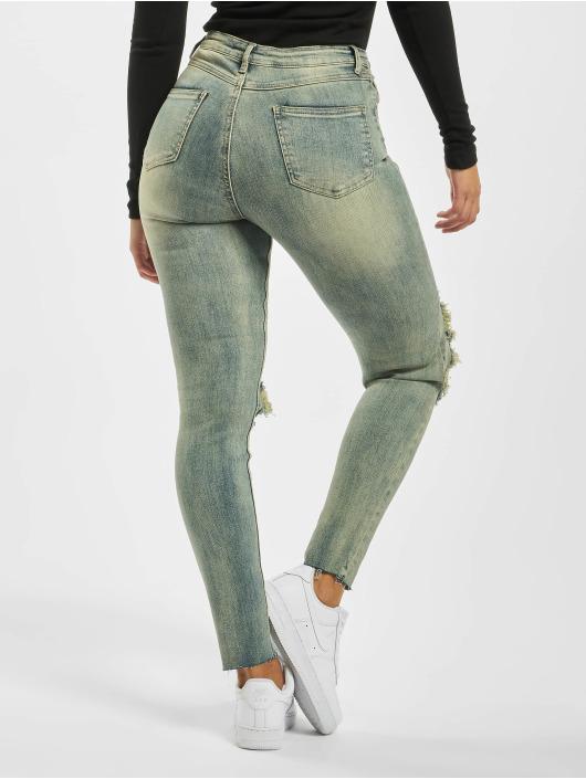 Missguided Skinny Jeans Sinner High Knee blau