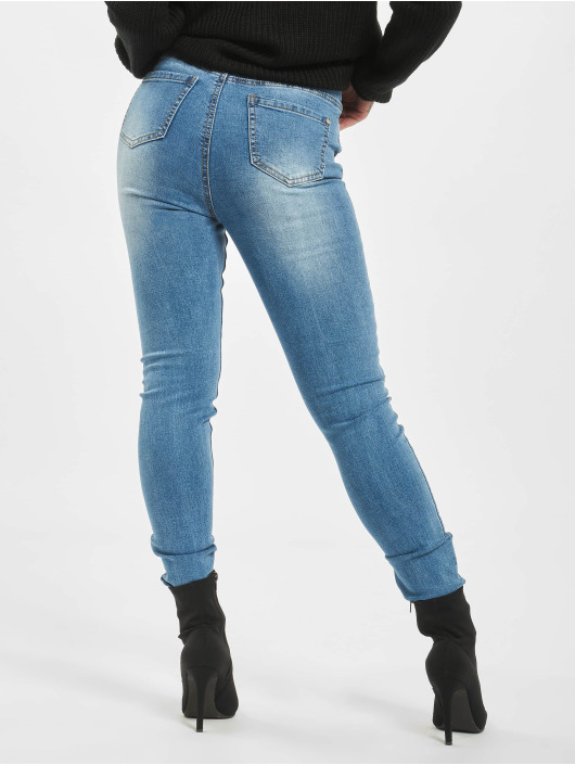 Missguided Skinny jeans Sinner Clean Distressed blauw