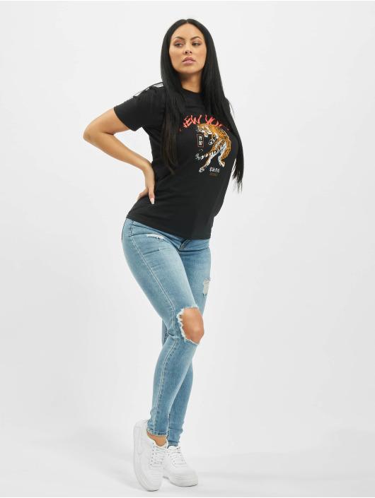 Missguided Skinny Jeans Sinner Open Knee blue