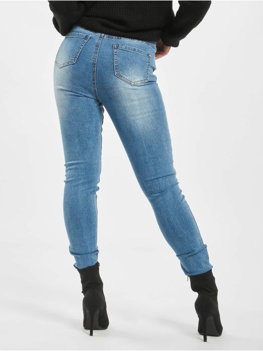 Missguided Skinny Jeans Sinner Clean Distressed modrý