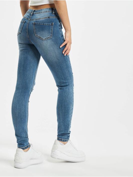 Missguided Skinny Jeans Petite Sinner Authentic niebieski