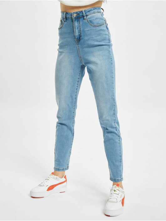 Missguided Skinny Jeans Assets Side Seam Detail Sinner niebieski