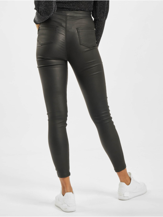 Missguided Skinny Jeans Vice Coated Lace Front schwarz