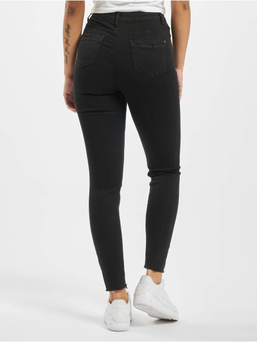 Missguided Skinny Jeans Sinner Highwaisted Extreme Rip schwarz