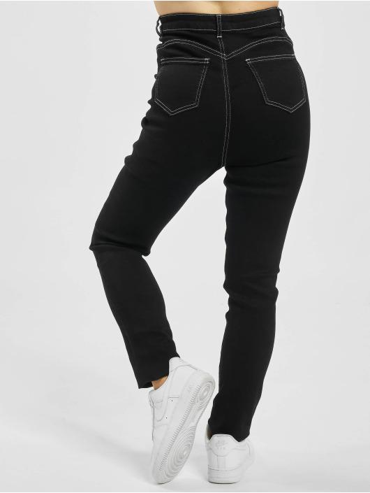 Missguided Skinny Jeans Mg X Assets Contrast Stitch Sinner schwarz