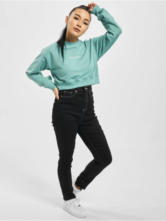 Missguided Skinny Jeans Mg X Assets Contrast Stitch Sinner schwarz