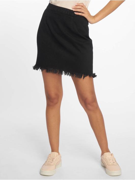 Missguided Skirt Fray Hem black