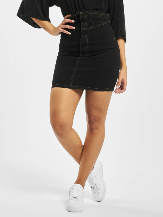 Missguided Skirt Corset Waist Denim black