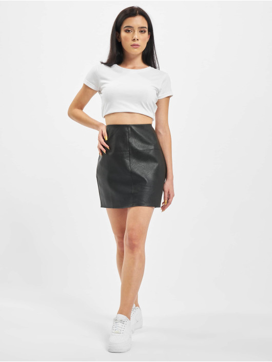 Missguided Skirt Faux Leather Mini black