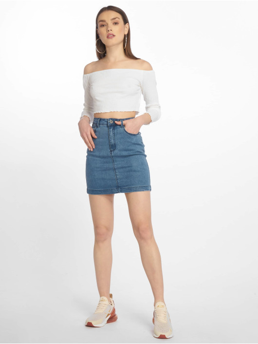 Missguided Skirt Super Stretch Denim Mini blue