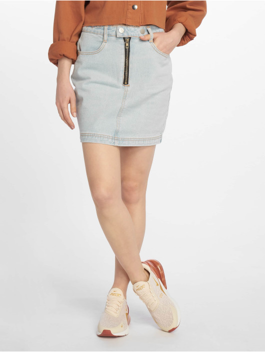 Missguided Skirt Double Popper Zip blue