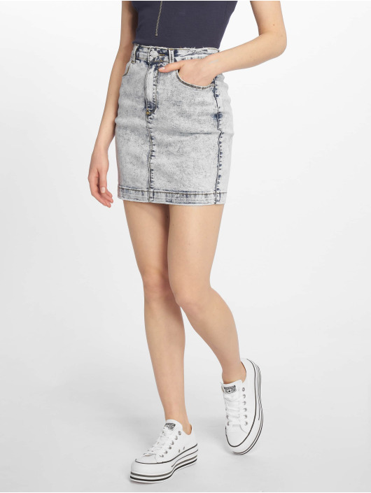 Missguided Skirt Bleach Wash Superstretch Denim blue