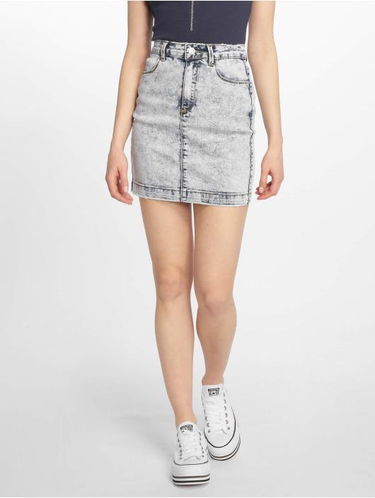 Missguided Skirt Bleach Wash Superstretch Denim blue