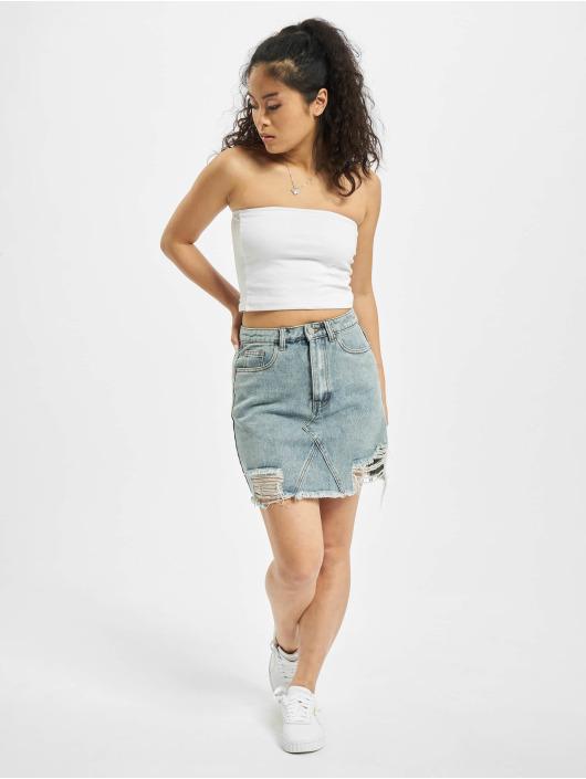 Missguided Skirt Distress Hem blue
