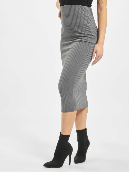 Missguided Skirt Co Ord Ribbed grey