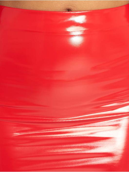 Missguided Skirt Basic Vinyl Mini red
