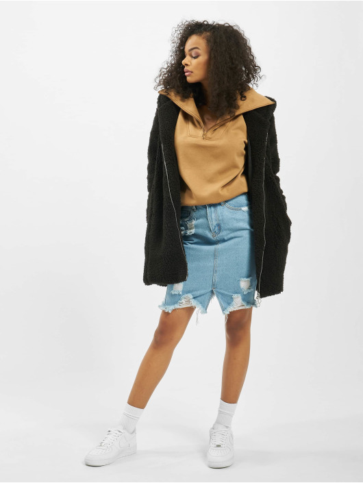Missguided Skjørt Busted Hem Denim Midi blå