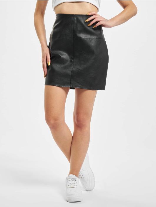 Missguided Skjørt Faux Leather Mini svart