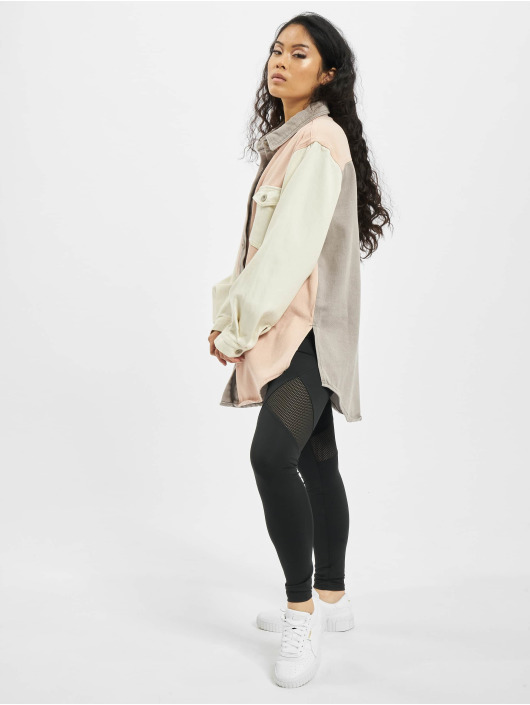 Missguided Skjorte Colourblock Oversized pink