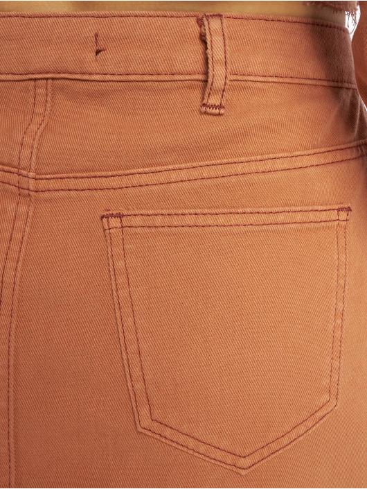 Missguided Spódniczki Exposed Button Step Hem Denim Mini brazowy