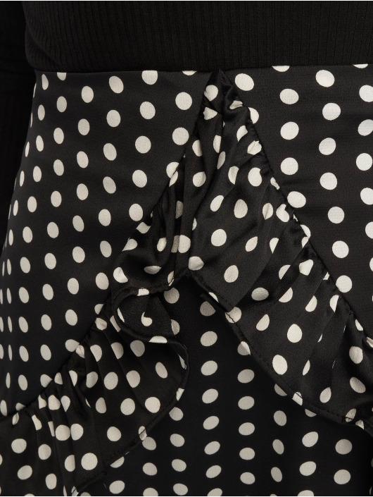 Missguided Spódniczki Polka Dot Frill czarny