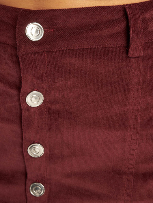 Missguided Spódniczki Cord Button Through fioletowy