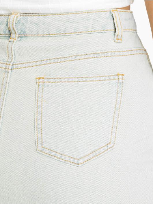 Missguided Spódniczki Vintage Asymetric Rip Denim niebieski