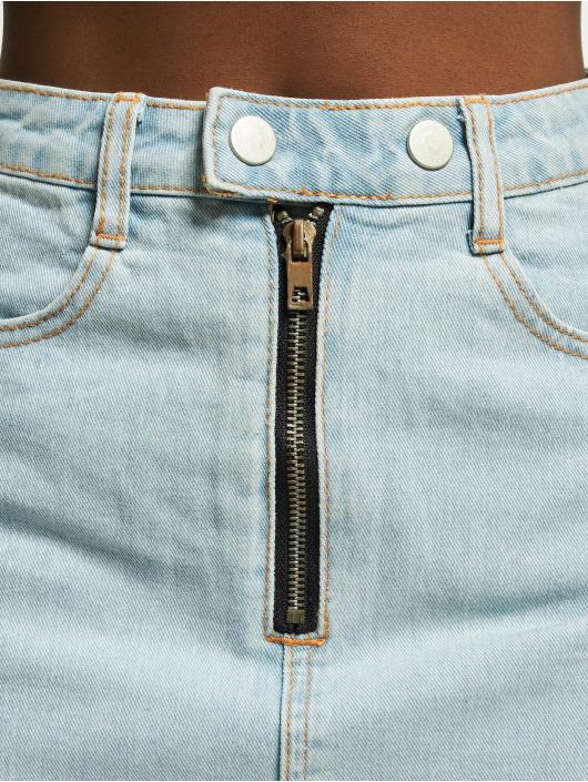 Missguided Spódniczki Double Popper Zip niebieski