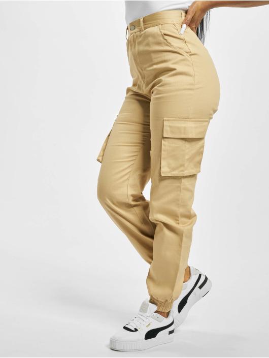 Missguided Spodnie Chino/Cargo Plain bezowy