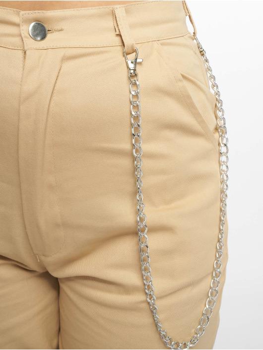 Missguided Spodnie Chino/Cargo Chain bezowy