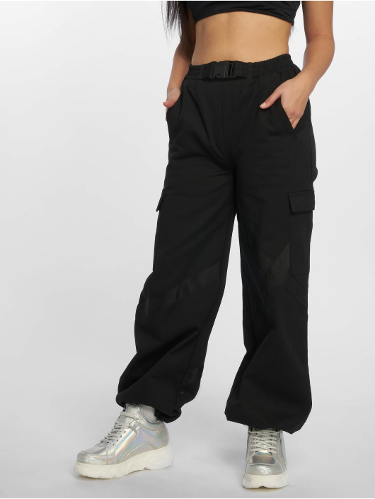 Missguided Spodnie Chino/Cargo Seatbelt czarny