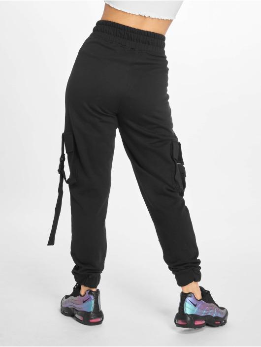 Missguided Spodnie Chino/Cargo Seat Belt czarny