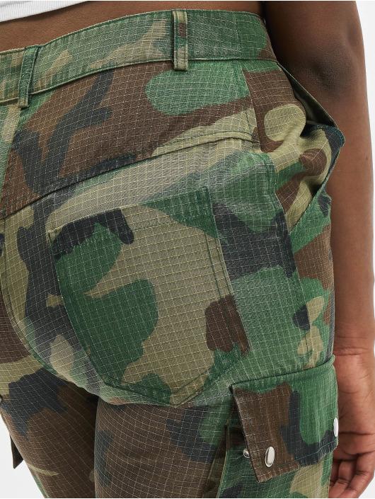 Missguided Spodnie Chino/Cargo Premium Camo Printed khaki