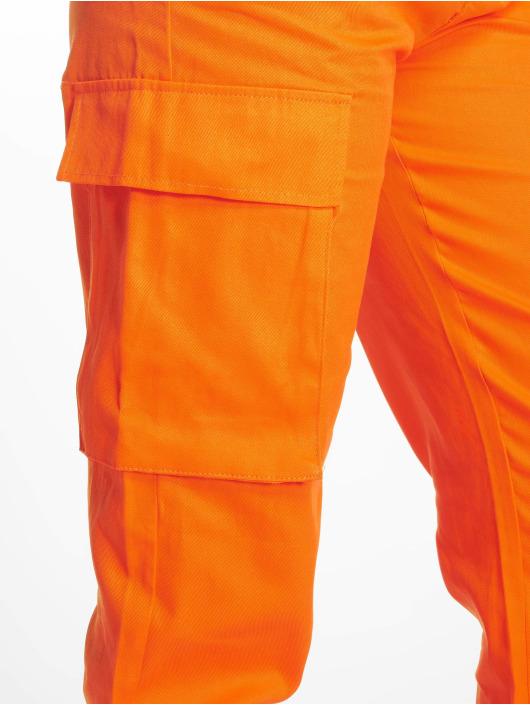Missguided Spodnie Chino/Cargo Plain pomaranczowy