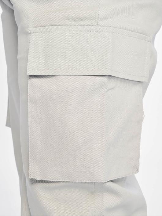 Missguided Spodnie Chino/Cargo Plain szary
