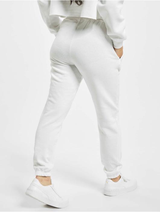 Missguided Spodnie do joggingu Petite White Basic bialy